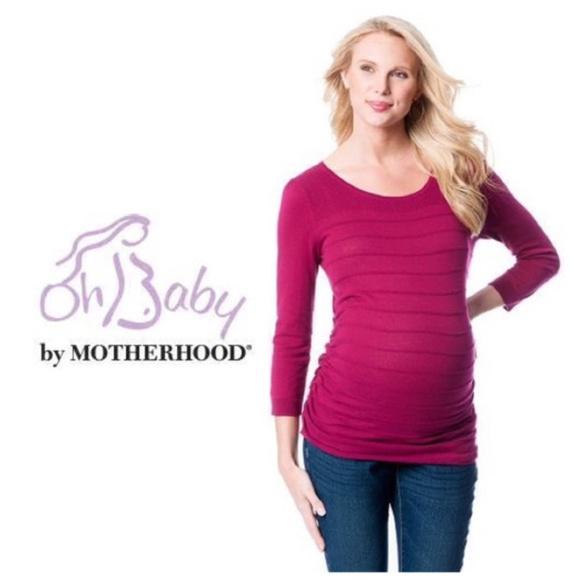 53d0ddeb8c6 Oh Baby Motherhood Maternity Sweater Wine S M L XL